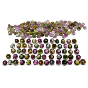 70.16 ct Multi Colour Tourmaline Round Wholesale Lot