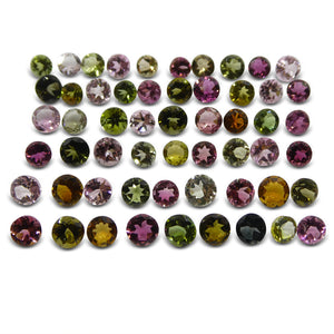 20.29 ct Multi Colour Tourmaline Round Wholesale Lot