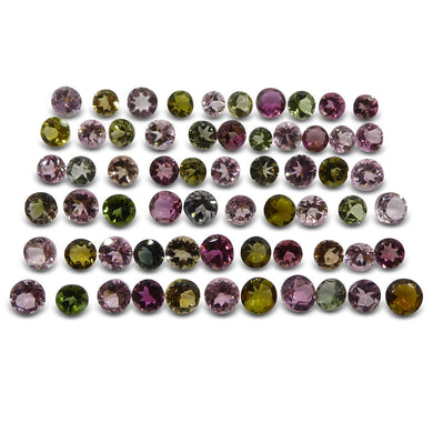 23.03 ct Multi Colour Tourmaline Round Wholesale Lot