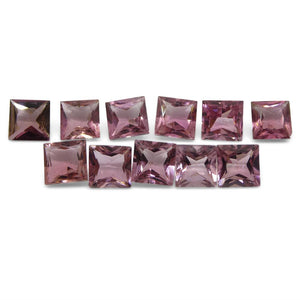 Pink Tourmaline 11.52 cts 6.00x6.00x3.50mm Square Pink   $350