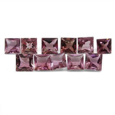 11.59 ct Pink Tourmaline Square Wholesale Lot - Skyjems Wholesale Gemstones