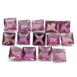 Pink Tourmaline 12.33 cts 6.00x6.00x3.50mm Square Pink   $370