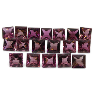 12.08 ct Pink Tourmaline Square Wholesale Lot