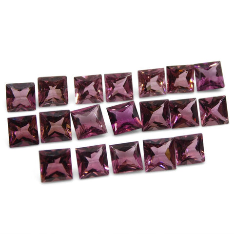 12.17 ct Pink Tourmaline Square Wholesale Lot
