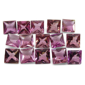 Pink Tourmaline 8.85 cts 5.00x5.00x3.00mm Square Pink   $230