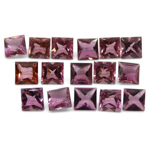 10.21 ct Pink Tourmaline Square Wholesale Lot - Skyjems Wholesale Gemstones