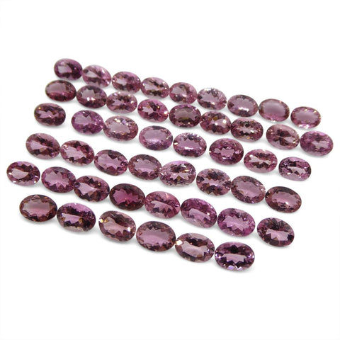 36.36 ct Baby Pink Tourmaline Oval Wholesale Lot