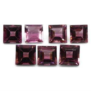 Pink Tourmaline 7.69 cts 6.00x6.00x4.00mm Square Pink   $240