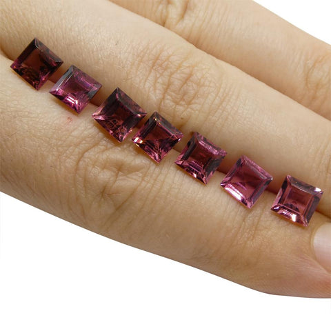 7.69 ct Pink Tourmaline Square Wholesale Lot