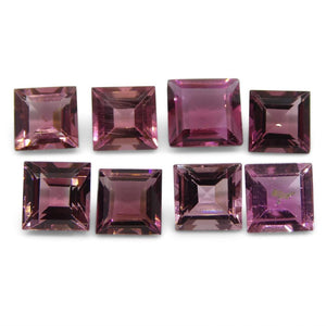 Pink Tourmaline <<TOTALCTS>> cts 6.00x6.00x4.00 to 7.05x7.02x3.48mm Square Pink   $270