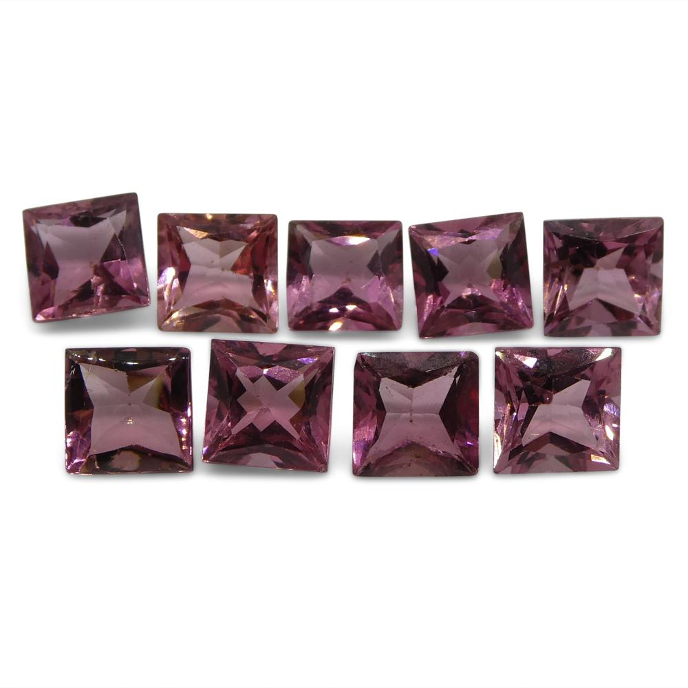 Pink Tourmaline 10.19 cts 6.00x6.00x4.00mm Square Pink   $310