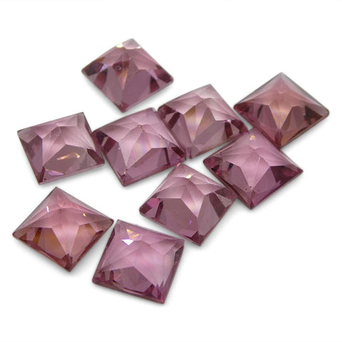 10.82 ct Pink Tourmaline Square Wholesale Lot
