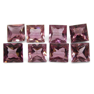 Pink Tourmaline 9.29 cts 6.00x6.00x4.00mm Square Pink   $280
