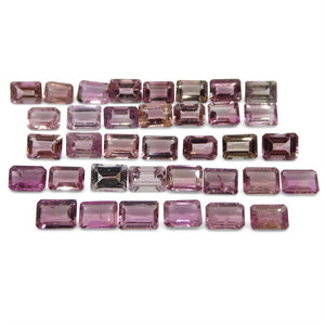 Pink Tourmaline 33.21 cts 7.00x5.00x3.00mm Emerald Cut Pink   $400