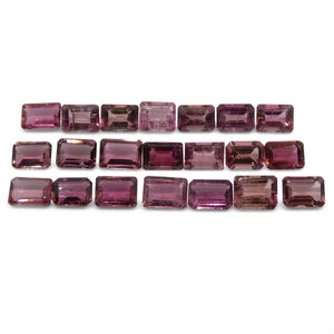 Pink Tourmaline 21.57 cts 7.00x5.00x3.00mm Emerald Cut Pink   $180
