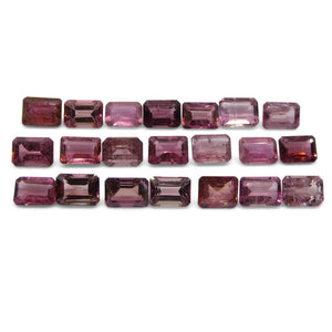 Pink Tourmaline 21.67 cts 7.00x5.00x3.00mm Emerald Cut Pink   $180