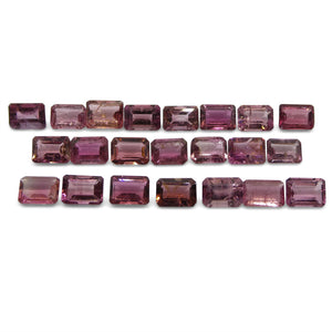 Pink Tourmaline 20.45 cts 7.00x5.00x3.00mm Emerald Cut Pink   $170