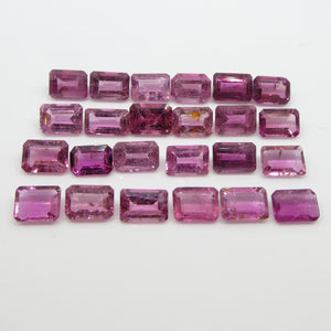 Pink Tourmaline 22.6cts 7.00x5.00x3.80mm Emerald Cut Pink $340