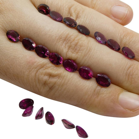 14.88 ct Rubellite Tourmaline Oval Jonas Mine - Wholesale Lot