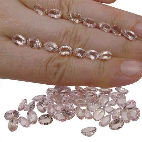 31.92 ct Morganite Oval Wholesale Lot