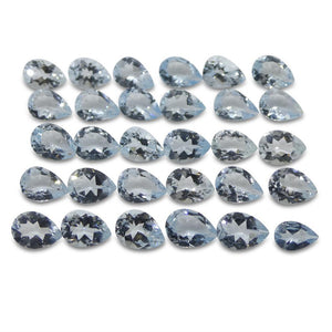 16.45 ct Aquamarine Pear Wholesale Lot - Skyjems Wholesale Gemstones