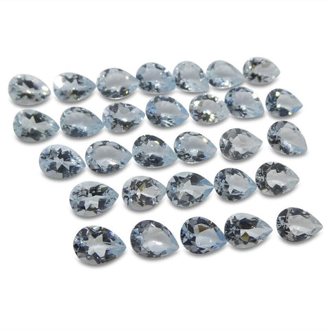 17.02 ct Aquamarine Pear Wholesale Lot