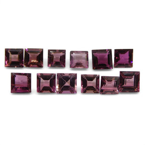 Pink Tourmaline 7.35 cts 5.00x5.00x3.00mm Square Pink   $150