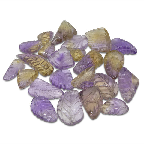 200.88ct Ametrine Leaf Carving Wholesale Lot