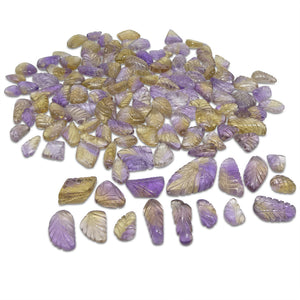 1001.23ct Ametrine Leaf Carving Wholesale Lot