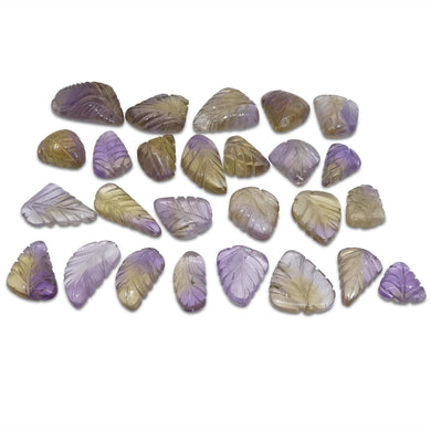 200.6ct Ametrine Leaf Carving Wholesale Lot - Skyjems Wholesale Gemstones