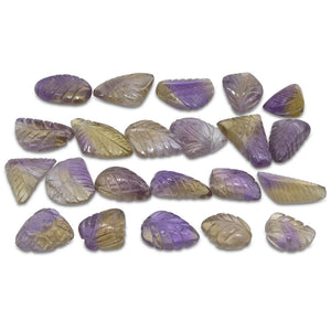 200.85ct Ametrine Leaf Carving Wholesale Lot - Skyjems Wholesale Gemstones