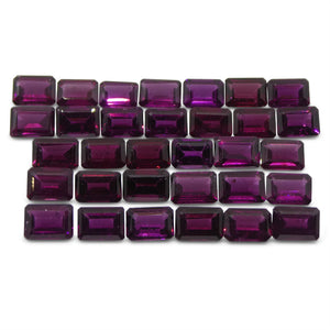 Rhodolite Garnet 40.56cts 7x5x3mm Emerald Cut Range: Purple - Red Purple $170