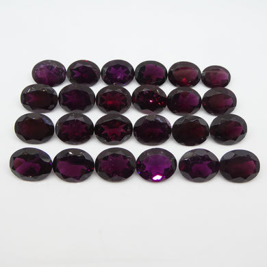 94.9ct Rhodolite Garnet Oval Wholesale Lot - Skyjems Wholesale Gemstones
