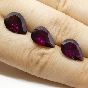 12.23ct Rhodolite Garnet Pear Wholesale Lot