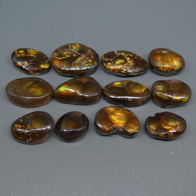 93.43ct Mexican Fire Agate Freeform Wholesale Lot - Skyjems Wholesale Gemstones