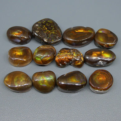 87.27ct Mexican Fire Agate Freeform Wholesale Lot - Skyjems Wholesale Gemstones