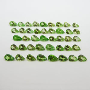 31.02ct Green Grossularite / Tsavorite Garnet Pear Wholesale Lot - Skyjems Wholesale Gemstones