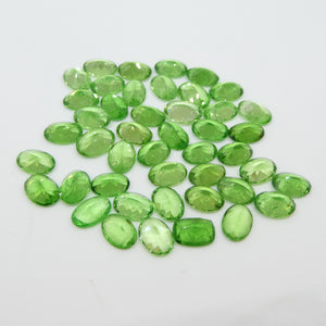 36.45ct Green Grossularite / Tsavorite Garnet Oval Wholesale Lot