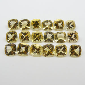 Heliodor 34.27cts 8.00x8.00x4.60mm Cushion Yellow $1030