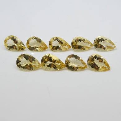 Heliodor 21.48cts 11.00x8.00x4.30mm to 12.00x8.00x5.40mm Pear Shape Yellow $650