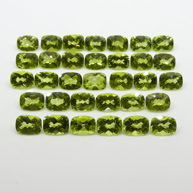 Peridot 48.55cts 8.00x6.00x4.00mm Checkerboard Cushion yellowish Green $150