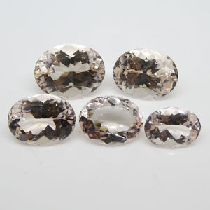 Morganite 41.87cts 12.65x9.22x6.41mm to 17.80x13.80x9.91mm Oval Pink $3140
