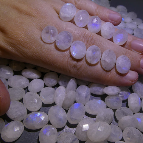 1225ct Rainbow Moonstone Oval Briolette Wholesale Lot