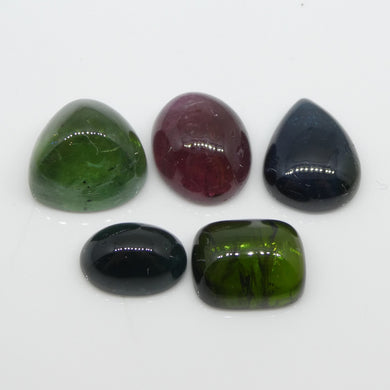 25.8ct Tourmaline Cabochon Oval/Pear/Cushion Cabochon Wholesale Lot - Skyjems Wholesale Gemstones