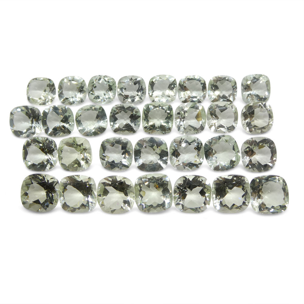 110 ct Cushion Prasiolite  Wholesale Lot (Green Amethyst)