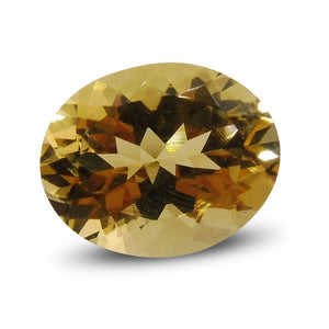 3.43 ct Oval Heliodor/Yellow Beryl - Skyjems Wholesale Gemstones