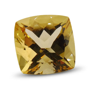 4.02 ct Cushion Golden Beryl / Heliodor IGI Certified - Skyjems Wholesale Gemstones