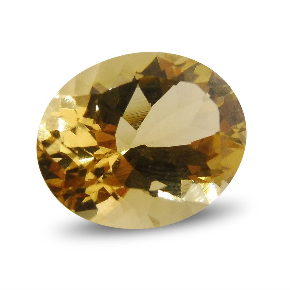 2.62 ct Oval Heliodor / Yellow Beryl