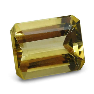 2.67 ct Emerald Cut Heliodor/Golden Beryl CGL-GRS Certified - Skyjems Wholesale Gemstones
