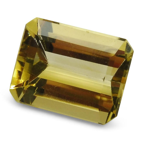 2.67 ct Emerald Cut Heliodor/Golden Beryl CGL-GRS Certified